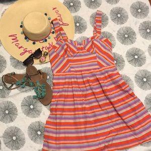 Harlyn Striped Bustier Silk Dress